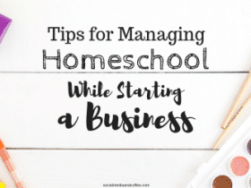 Tips for Managing Homeschool while Starting a Business
