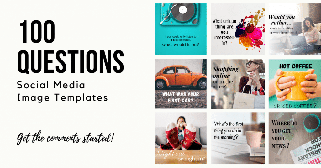 100 Questions Social Media Image Templates