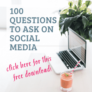 Download 100 Questions to Ask on Social Media