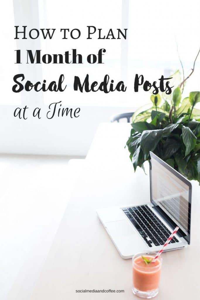 How to Plan 1 Month of Social Media Posts at a Time | social media marketing | online business | blogging | blog | blogger | Facebook Marketing | Instagram marketing | Twitter | #socialmedia #marketing #onlinebusiness #Facebook #Instagram #Twitter #blogging #blog #blogger