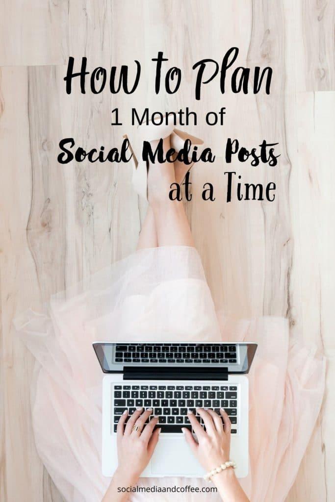 How to Plan 1 Month of Social Media Posts at a Time | social media marketing | Facebook | Instagram | Twitter | online business | blog | blogging | #socialmedia #marketing #onlinebusiness #Facebook #Instagram #Twitter #blog #blogging