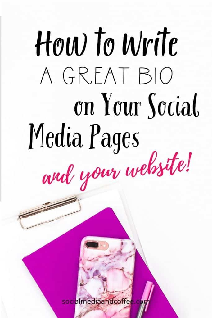 How to Write a Great Bio on Your Social Media Pages (and your website!) | social media marketing | social media manager | online business | blog | blogging | work from home | Facebook | Instagram | Twitter | entrepreneur | #onlinebusiness #socialmedia #marketing #blog #blogging #blogger #Facebook #Instagram #Twitter #workfromhome
