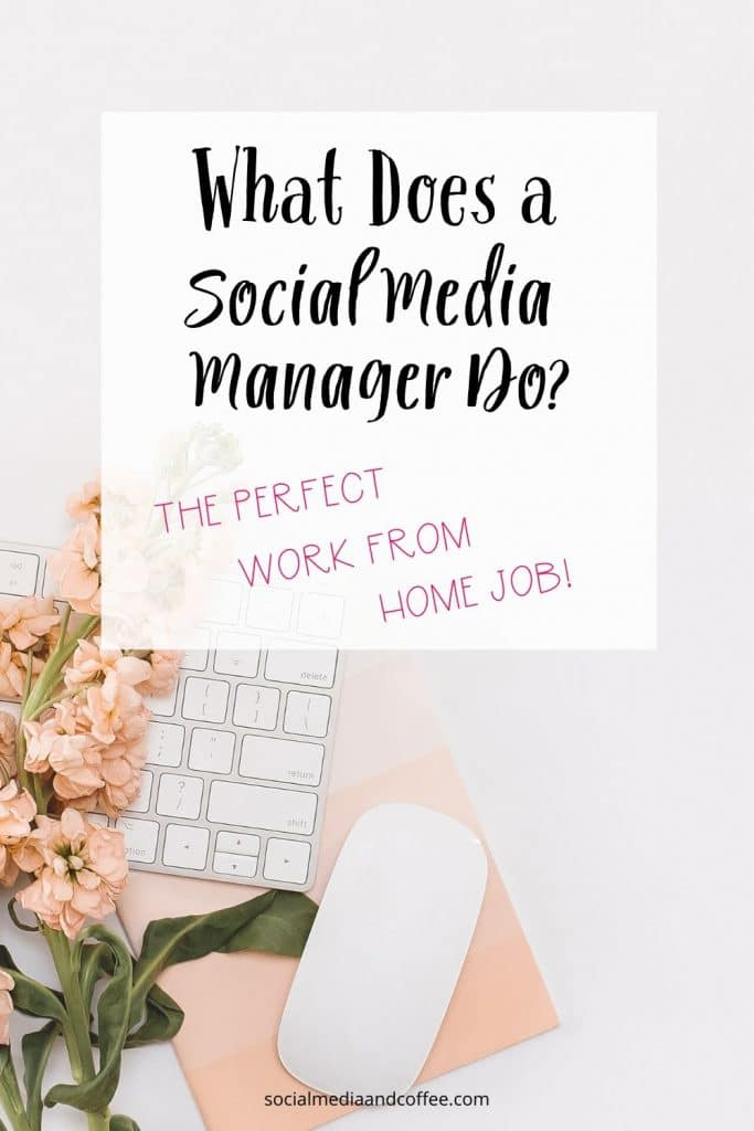 What Does a Social Media Manager Do? (the perfect work from home job!) | online business | Facebook | social media marketing | Instagram | Twitter | stay at home mom | work from home mom | homeschool mom | blog | blogging | #socialmedia #marketing #onlinebusiness #workfromhome #sahm #stayathomemom #homeschoolmom #blog #Blogger #blogging